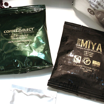 cruz coffee bean packets