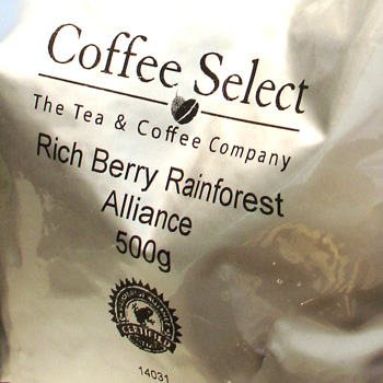 cruz coffee beans rainforest alliance