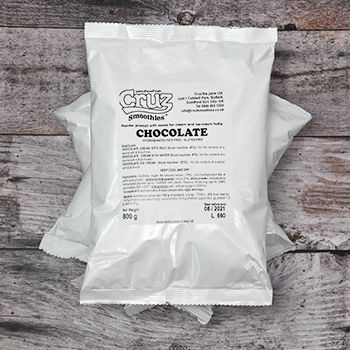 yogcruz frozen yogurt mix bag chocolate