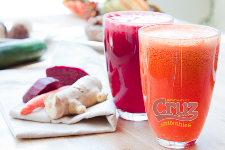 Quality Smoothies supplied by Cruz The Juice