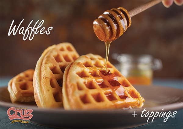 Delicious waffles - Cruz The Juice poster