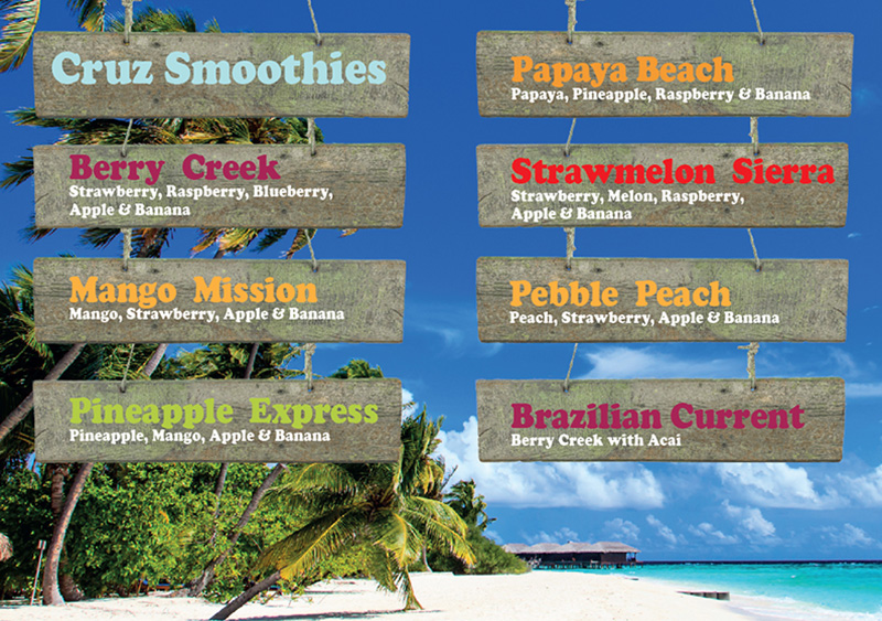 cruz smoothies ingredients list