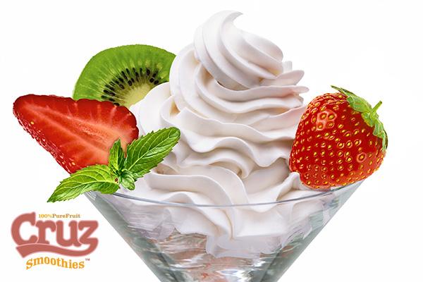 Cruz ingredients frozen yogurt ice cream