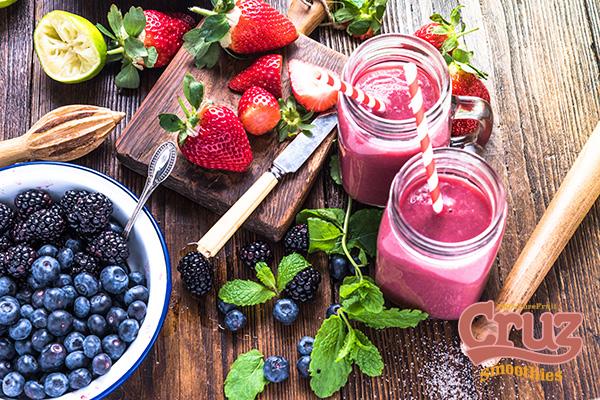 Cruz ingredients fresh frozen smoothie fruit