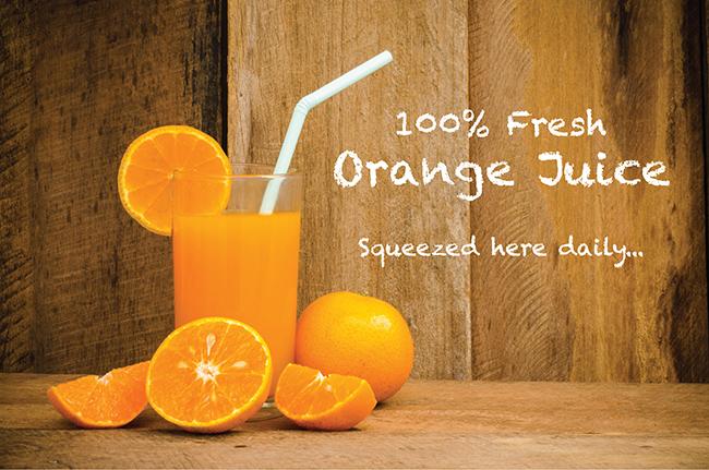 Cruz fresh juicing oranges