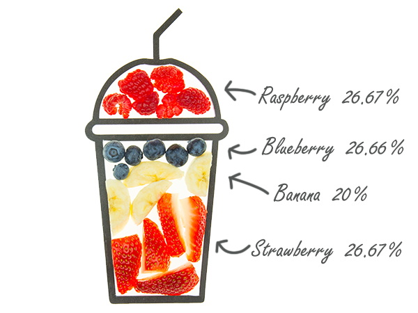 cruz smoothie ingredients cups berry creek with fruit amounts