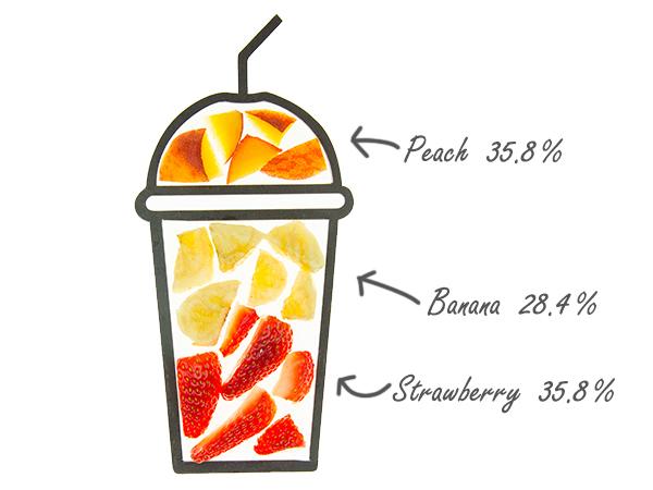 cruz smoothie ingredients cups pebble peach with fruit amounts