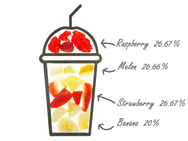 cruz smoothie ingredients cups strawmelon sierra with fruit amounts