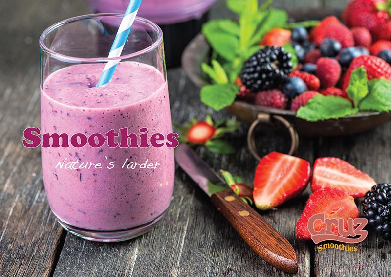 Cruz fresh fruit smoothies point of sale