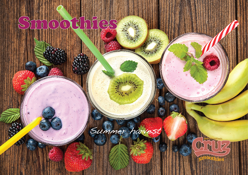 Cruz fresh fruit smoothies point of sale