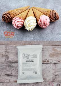 yogcruz frozen yogurt ice cream ingredients strawberry