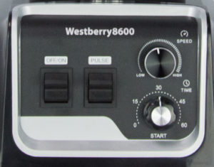 Westberry 8600 smoothie blender control panel