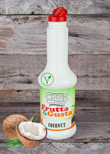 cruz ingredients coconut flavour milkshake fruit puree