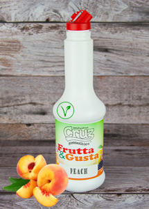 cruz ingredients peach flavour milkshake fruit puree